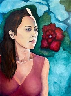 Marc Provisor - Shanti Oil on Canvas, Paintings