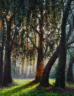 Deana Evstefeeva - Perfect Bosque Oil on Canvas, Paintings