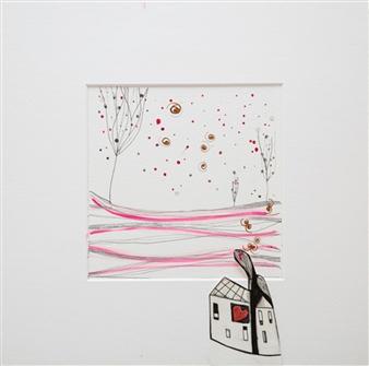 Ilaria Castagnacci - Homeward Watercolor & Ink on Paper, Paintings