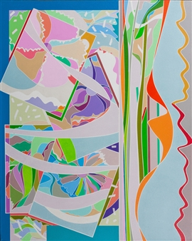 Ai-Wen Wu Kratz - Spring Canzonetta Acrylic on Canvas, Paintings