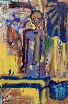 Tyler Santangelo - Fredrick Acrylic & Spraypaint on Canvas, Paintings