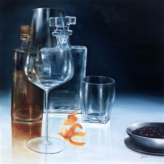 JANINA Leigue - Bourbon Time 1 Oil on Canvas, Paintings