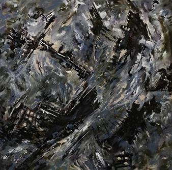 Terry Firkins - Titan Oil & Mixed Media on Canvas, Mixed Media