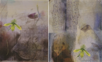 Sheree Friedman - Chartreuse Cocktail Diptych 1 & 2 UV Matte Plexi-Sandwiched HD Print on Resin Coated Paper, Prints