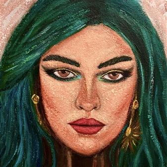 Hayam Elsayed - Serenity Acrylic on Canvas, Paintings
