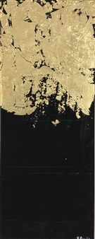 Konka - Golden Stillness Acrylic & Pastel on Canvas, Paintings