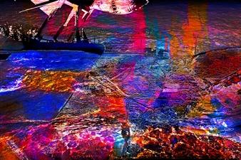 Frédérique Négrié - Luminescence 1 Digital Painting on Aluminum, Digital Art