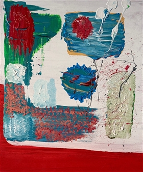 Tyler Santangelo - Wish Away Acrylic & Spraypaint on Canvas, Paintings