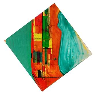 Ashley Hanson - City of Glass 37 – (PLOT.noun, PLOT.verb) Oil on Canvas, Paintings