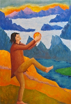 Marliese Scheller - Danse Matinale Oil on Masonite, Paintings
