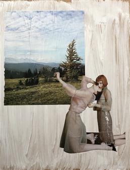 William Atkinson - Nature vs Nurture #9 Mixed Media & Collage on Board, Mixed Media