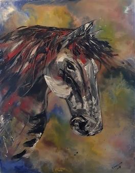 Anders Ekelund - Horse Acrylic on Canvas, Paintings