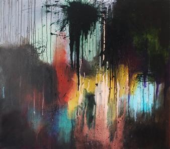 Saurabh Mohan - Mystery 5 Acrylic on Canvas, Paintings