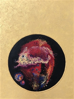 Angela Schiappa - The Happiest Fish in the Universe Mixed Media on Canvas, Mixed Media
