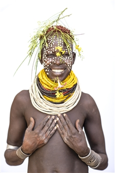 Safaa Kagan - Karo Woman Holding Breasts Archival Pigment Print, Photography