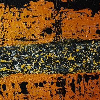 Ulrich T. Grabowski - Golden Veins Acrylic on Canvas, Paintings