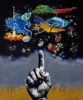 vgvenu - Tat Tvam Asi Acrylic on Canvas, Paintings