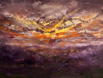 Christiane Palpant - Dawning Despite Oil on Canvas, Paintings