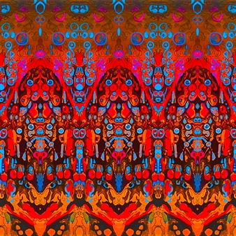 PJ Riley - FOREST KINGS: Tigers Bees and Manatees Digital Art and Acrylic on Canvas, Digital Art