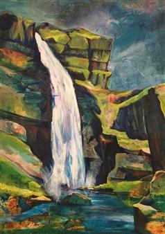 D. L. Brabander - New Destinations II Acrylic & Mixed Media on Canvas, Mixed Media