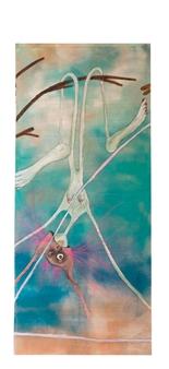 Mar De Redin - La Suerte en el Culo_A3 Acrylic & Mixed Media on Linen Canvas, Mixed Media