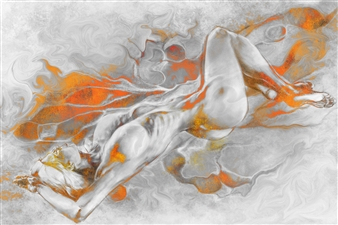Marc Tremblay - Grey Matter Digital Artwork on Canvas, Digital Art
