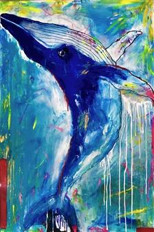 Grażyna Aneta Ochowiak - Dream Whale Acrylic & Spraypaint on Canvas, Paintings