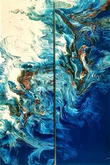 Ashton Lally - Underworld Acrylic on Canvas, Paintings