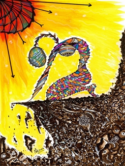 Nalayo - Resistencia Black Fine Point Pen & Colored Markers on Paper, Drawings