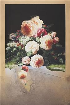 Pamela Bennett Ader - Cutout Mixed Media on Canvas, Mixed Media