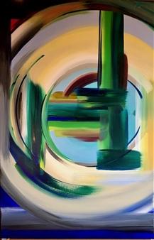 Rebecca Stenn - Cactus Acrylic on Canvas, Paintings