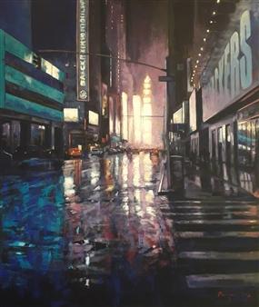 Emanuele Biagioni - Reflexes Acrylic on Canvas, Paintings