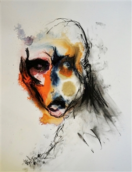 Jennifer Morrow - Unnamed No65 Mixed Media on Paper, Mixed Media