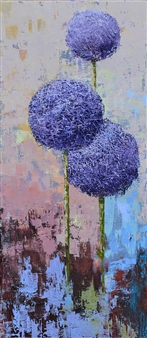 Olena Bogatska - Allium 2 Oil on Canvas, Paintings