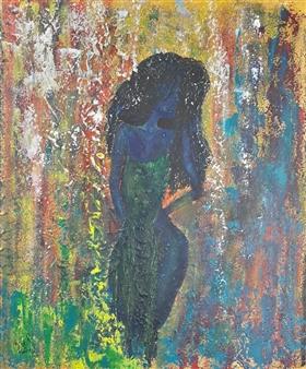 Chatarina Salomonsson - Queen of the Nightfloor Acrylic on Canvas, Paintings