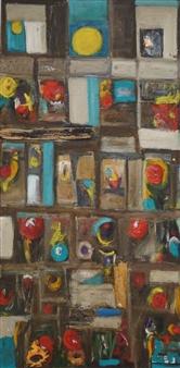 Ana Ingham - Wild Garden 1 Oil on Cardboard, Paintings