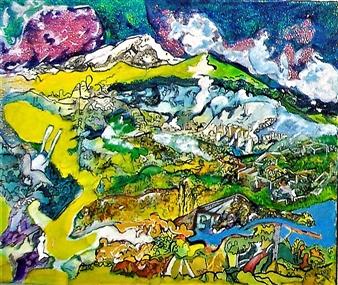 Elena Gastón Nicolás - Variaciones Sobre el Valle, Variations on the Valley Acrylic on Canvas, Paintings