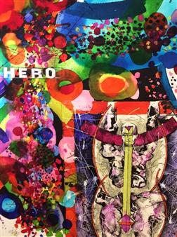 Michael Dolen - Hero 289A Mixed Media on Paper, Mixed Media