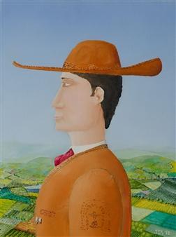 Jorge Garcia-Sainz - El Charro Oil on Canvas, Paintings