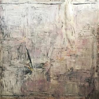 Lorena Becerra - Lapida 7 (Tombstone 7) Mixed Media on Canvas, Mixed Media