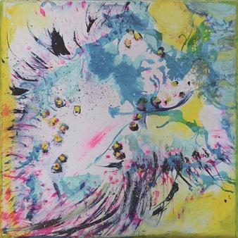 Gerlinde Amei Wöllmer - Fresh Acrylic, Watercolor & Colored Pencil on Canvas, Mixed Media