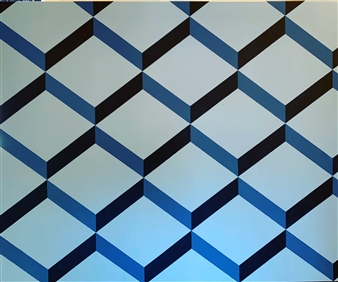 Jolie Dueñas - The Contemporary #BLUE Acrylic on Canvas, Paintings