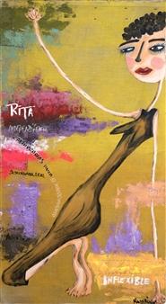 Mar De Redin - Chicas de Chicle-Rita Acrylic & Mixed Media on Canvas, Mixed Media