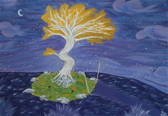 David Pallua - Oasis.. Acrylic on Canvas, Paintings