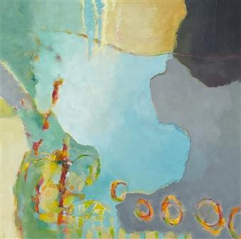 Jenny Shaw - Happy Circles Mixed Media on Canvas, Mixed Media