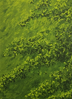 Caspar Baum - Botanical Garden 2 Oil & Acrylic on Canvas, Paintings