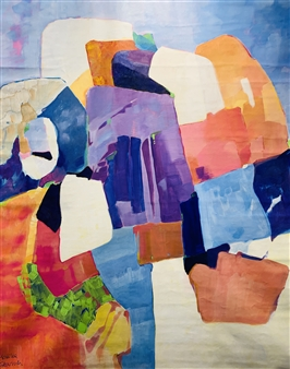 Monika Gloviczki - Rocks and Stones Acrylic on Fabric, Paintings
