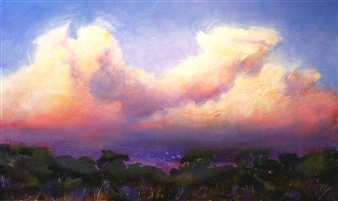 Di Taylor - Violet Embrase Acrylic on Canvas, Paintings