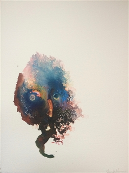 Jennifer Morrow - Unnamed No 41 Watercolor & Ink on Paper, Paintings