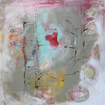 Gerlinde Amei Wöllmer - Abstrakt Mixed Media & Acrylic on Canvas, Mixed Media